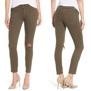 DL1961 Jeans - Margaux Instasculpt Ripped Ankle Skinny Jean Green